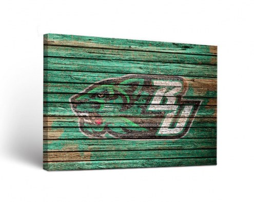 Binghamton Bearcats Weathered Canvas Wall Art