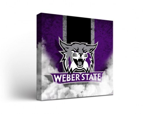 Weber State Wildcats Vintage Canvas Wall Art