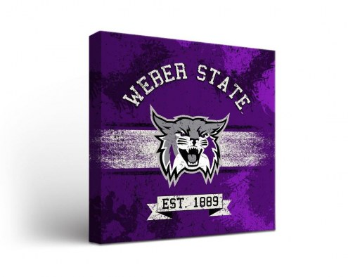 Weber State Wildcats Banner Canvas Wall Art