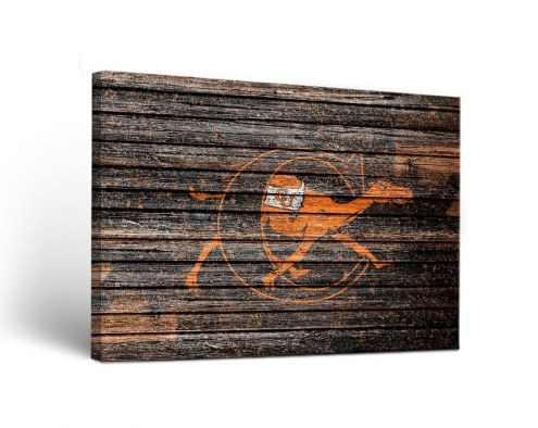 Campbell Fighting Camels Weathered Canvas Wall Art