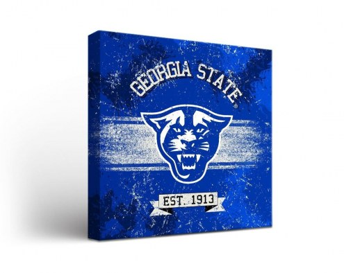 Georgia State Panthers Banner Canvas Wall Art