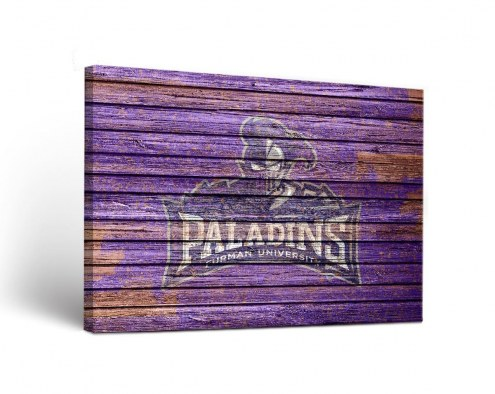 Furman Paladins Weathered Canvas Wall Art