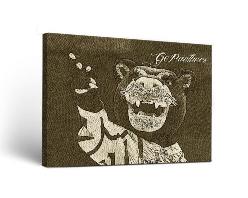 Wisconsin Milwaukee Panthers Sketch Canvas Wall Art
