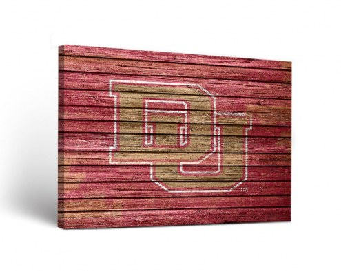 Denver Pioneers Weathered Canvas Wall Art