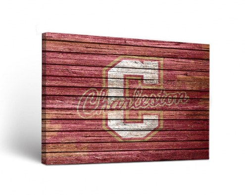Charleston Cougars Weathered Canvas Wall Art