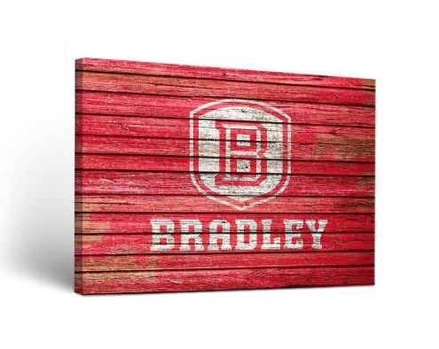 Bradley Braves Weathered Canvas Wall Art
