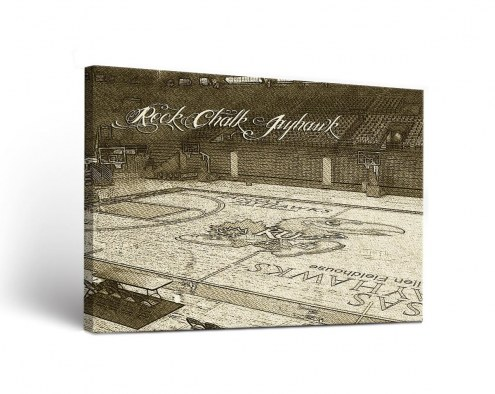 Kansas Jayhawks Sketch Canvas Wall Art