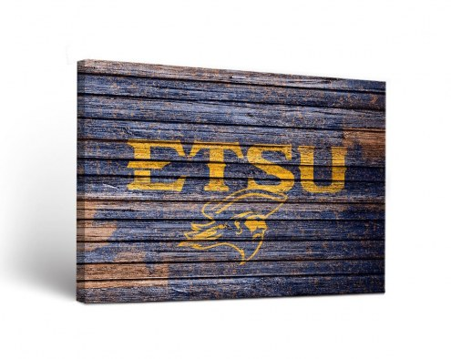 East Tennessee State Buccaneers Weathered Canvas Wall Art