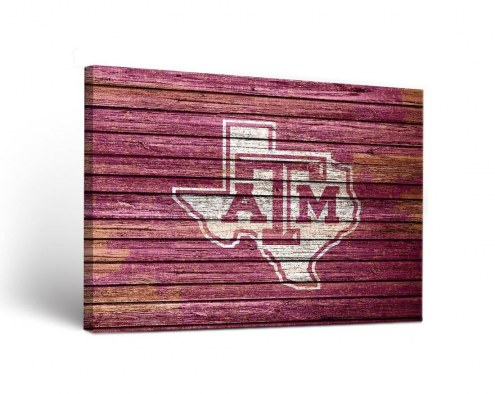 Texas A&M Aggies Weathered Canvas Wall Art