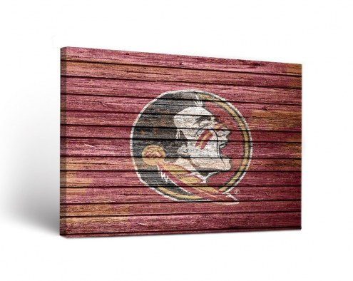 Florida State Seminoles Weathered Canvas Wall Art
