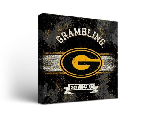 Grambling State Tigers Banner Canvas Wall Art