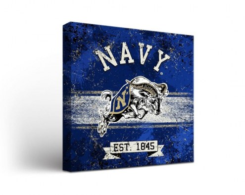 Navy Midshipmen Banner Canvas Wall Art