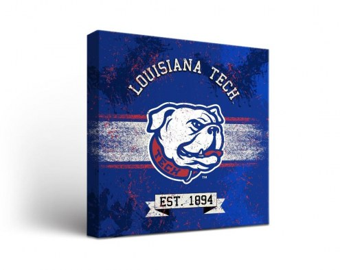Louisiana Tech Bulldogs Banner Canvas Wall Art