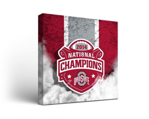 Ohio State Buckeyes Champs Vintage Canvas Wall Art