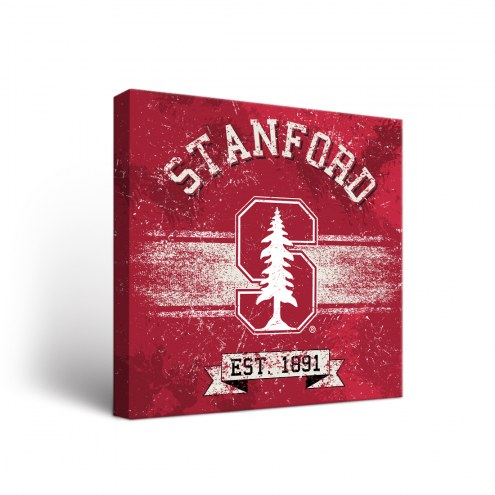 Stanford Cardinal Banner Canvas Wall Art