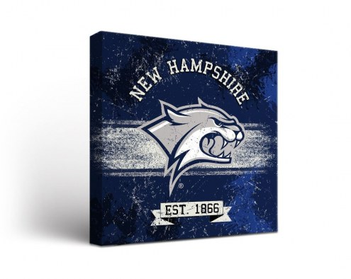 New Hampshire Wildcats Banner Canvas Wall Art
