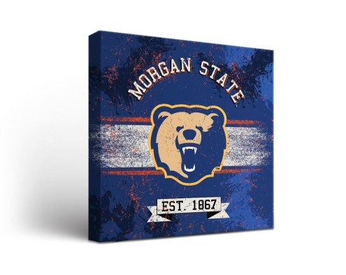 Morgan State Bears Banner Canvas Wall Art