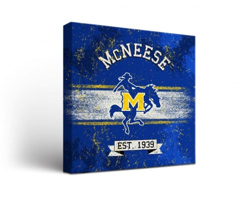 McNeese State Cowboys Banner Canvas Wall Art