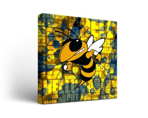 Georgia Tech Yellow Jackets Fight Song Canvas Wall Art