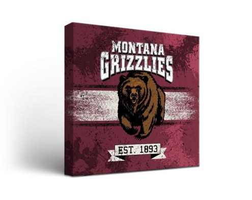 Montana Grizzlies Banner Canvas Wall Art