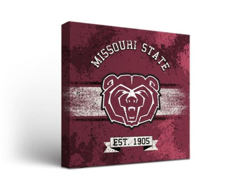 Missouri State Bears Banner Canvas Wall Art