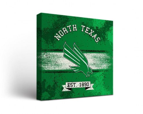 North Texas Mean Green Banner Canvas Wall Art