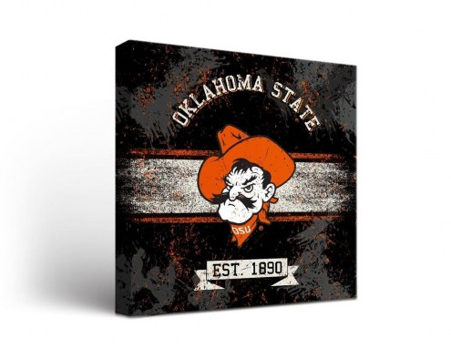 Oklahoma State Cowboys Banner Canvas Wall Art