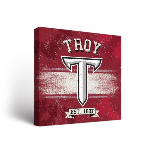Troy Trojans Banner Canvas Wall Art