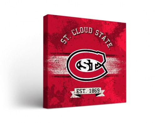 St. Cloud State Huskies Banner Canvas Wall Art
