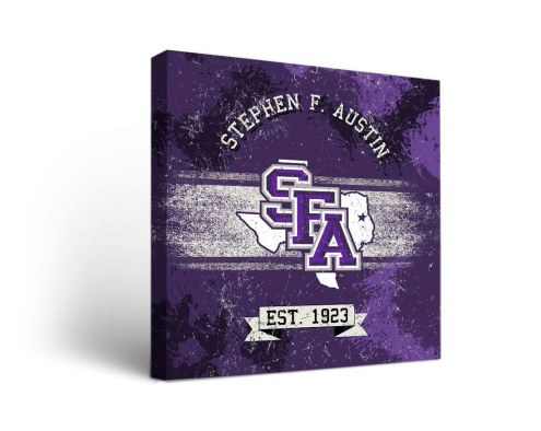 Stephen F. Austin State Lumberjacks Banner Canvas Wall Art