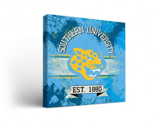 Southern Jaguars Banner Canvas Wall Art