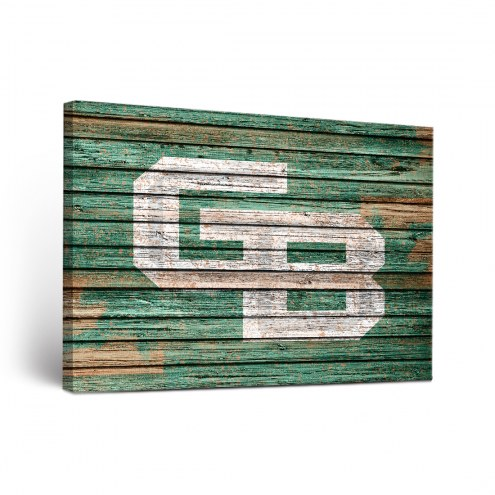 Green Bay Phoenix Weathered Canvas Wall Art