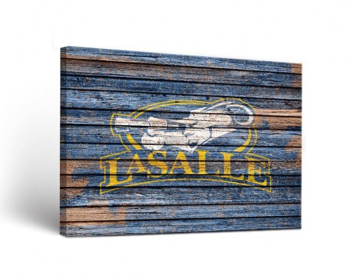 La Salle Explorers Weathered Canvas Wall Art