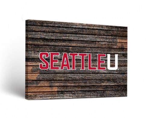 Seattle Redhawks Weathered Canvas Wall Art