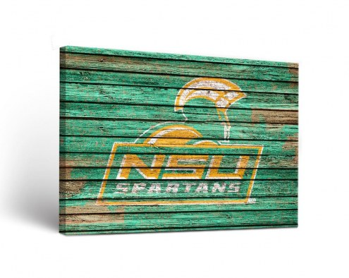 Norfolk State Spartans Weathered Canvas Wall Art