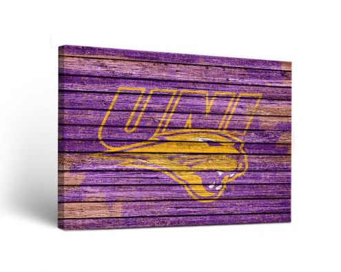 Northern Iowa Panthers Weathered Canvas Wall Art
