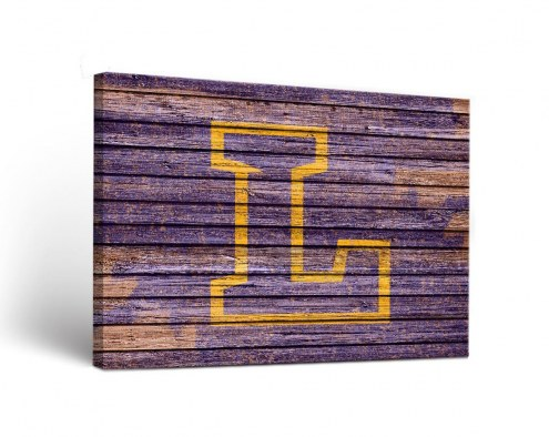 Lipscomb Bisons Weathered Canvas Wall Art