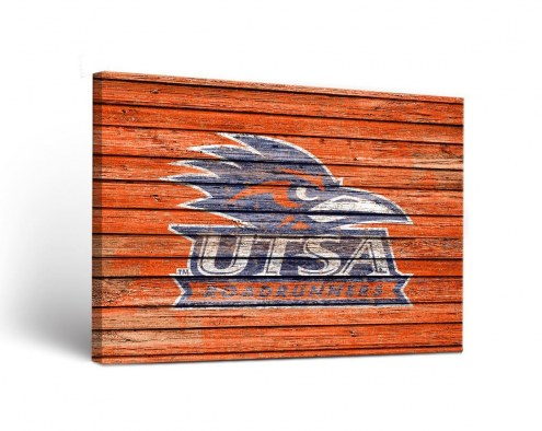 Texas San Antonio Roadrunners Weathered Canvas Wall Art