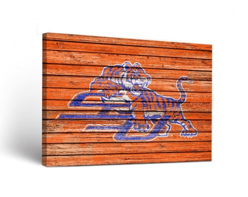 Savannah State Tigers Weathered Canvas Wall Art
