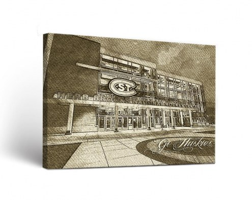 St. Cloud State Huskies Sketch Canvas Wall Art