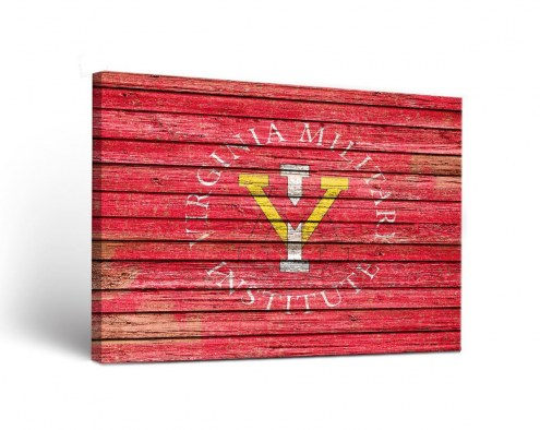 Virginia Military Institute Keydets Weathered Canvas Wall Art