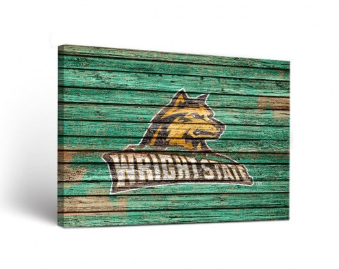 Wright State Raiders Weathered Canvas Wall Art
