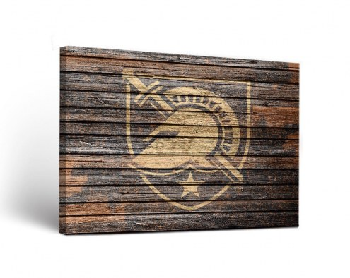Army Black Knights Weathered Canvas Wall Art