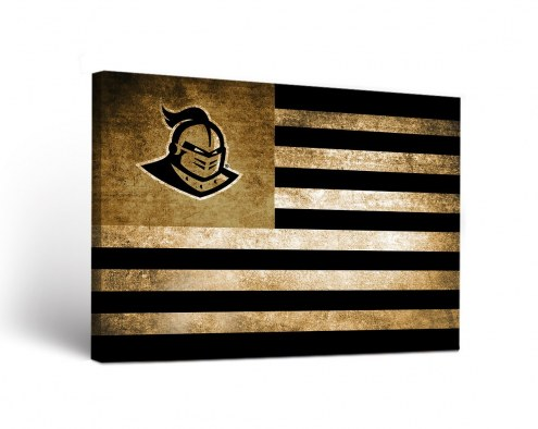 Central Florida Knights Vintage Flag Canvas Wall Art