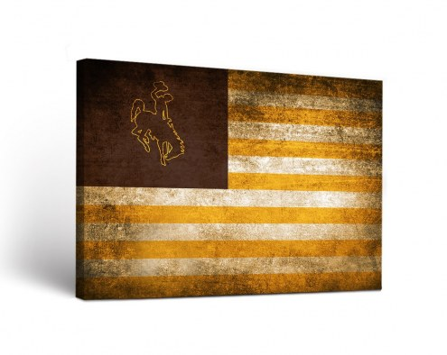 Wyoming Cowboys Vintage Canvas Wall Art
