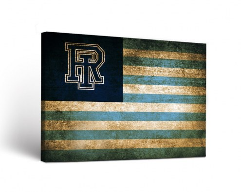 Rhode Island Rams Vintage Canvas Wall Art