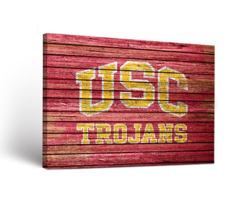USC Trojans Weathered Canvas Wall Art