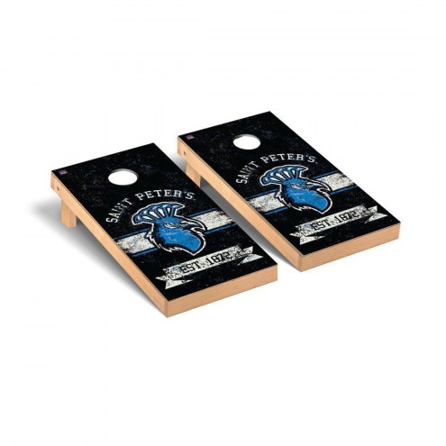 Saint Peter's Peacocks Victory Cornhole Game Set