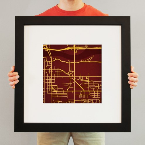 Arizona State Sun Devils Campus Map Print