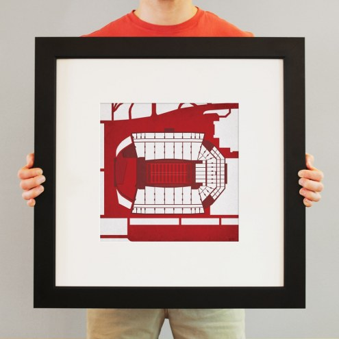 Arkansas Razorbacks Stadium Print